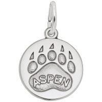 Aspen Bear Paw Print Charm