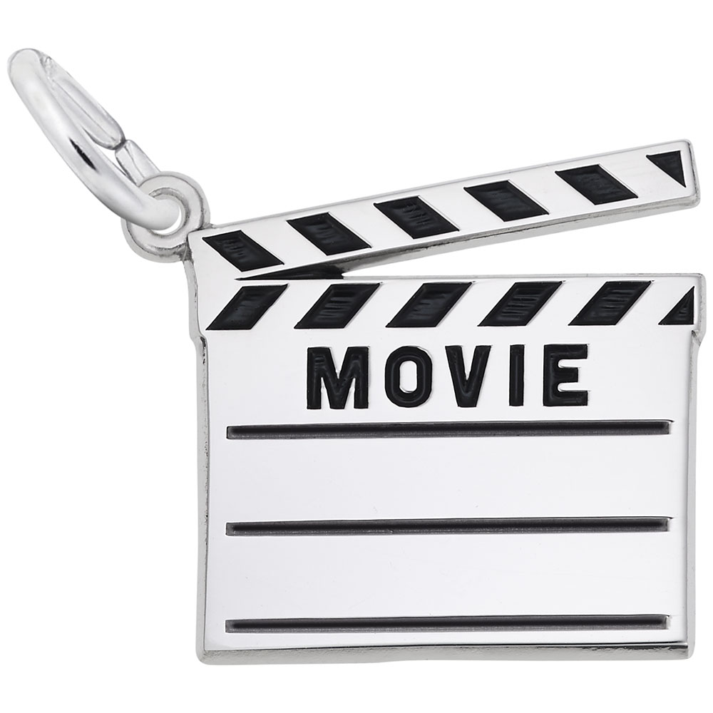 Rembrandt Charms Sterling Silver Movie Popcorn Charm