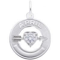 April Love Birthstone Charm