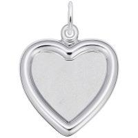 Small Heart Photoart Charm