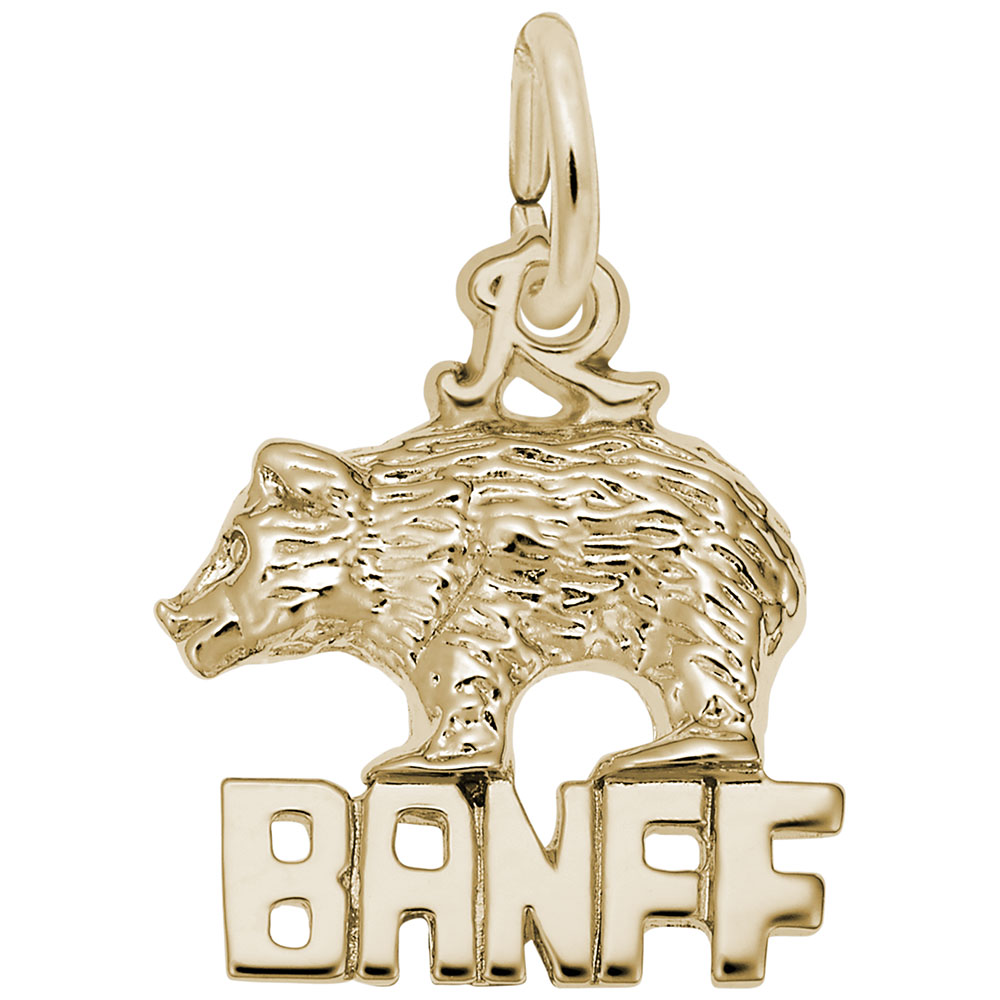 Rembrandt Charms Banff Charm with Lobster Clasp 10K Yellow Gold