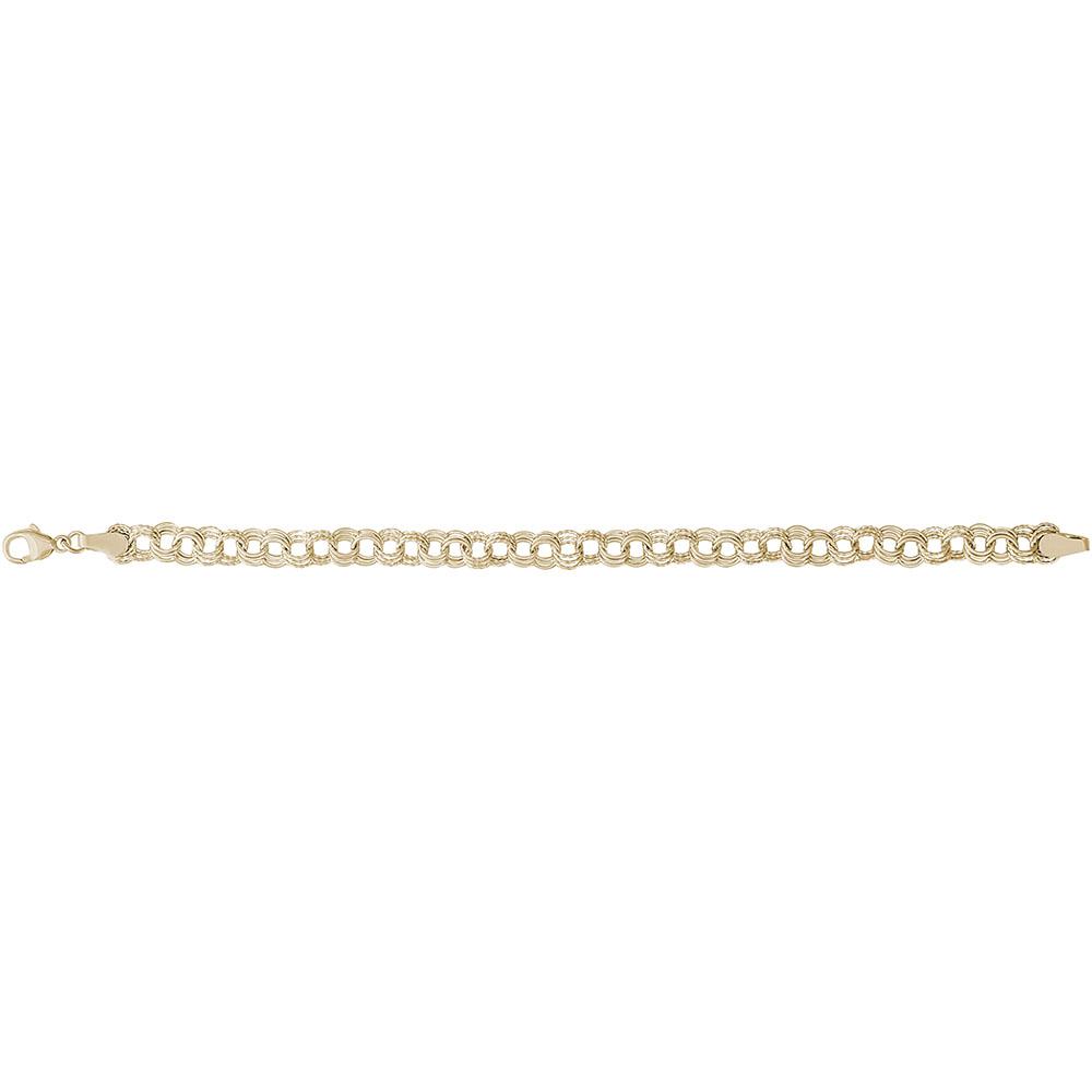 5cb1b56de7239a ... Charm Bracelets / Twisted Triple Link Curb Classic Bracelet. T. T