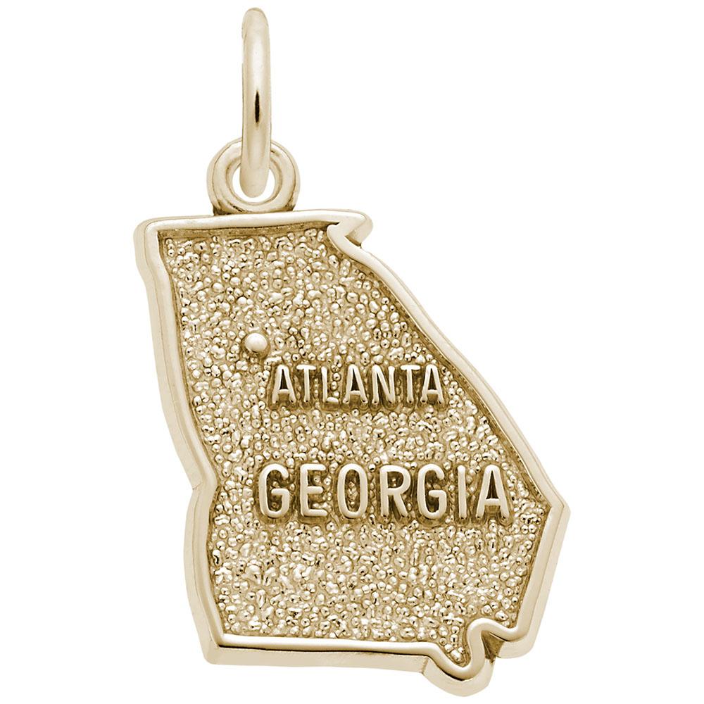 Atlanta Georgia Map Charm Rembrandt Charms