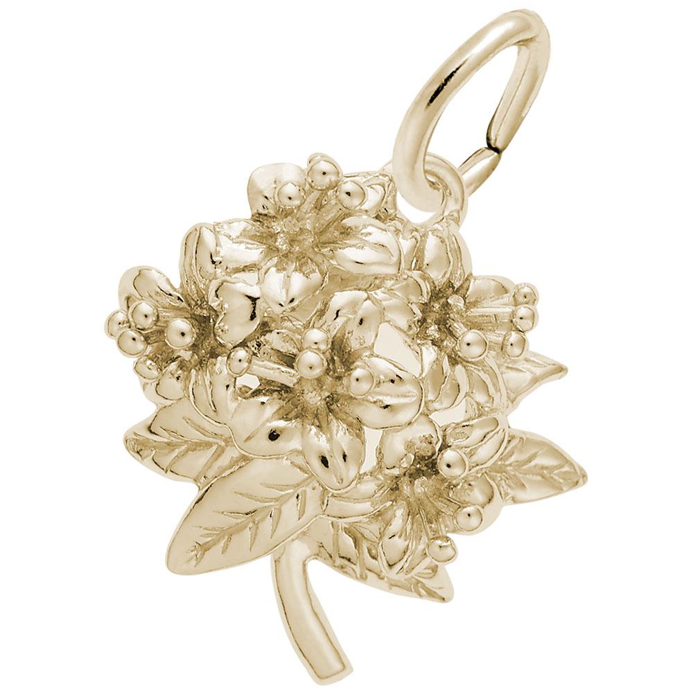10k Yellow Gold N Charms for Bracelets and Necklaces Carolina Azalea Charm