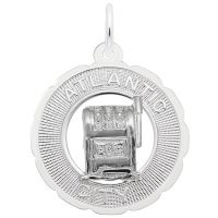Atlantic City Slot Machine Scalloped Ring Charm
