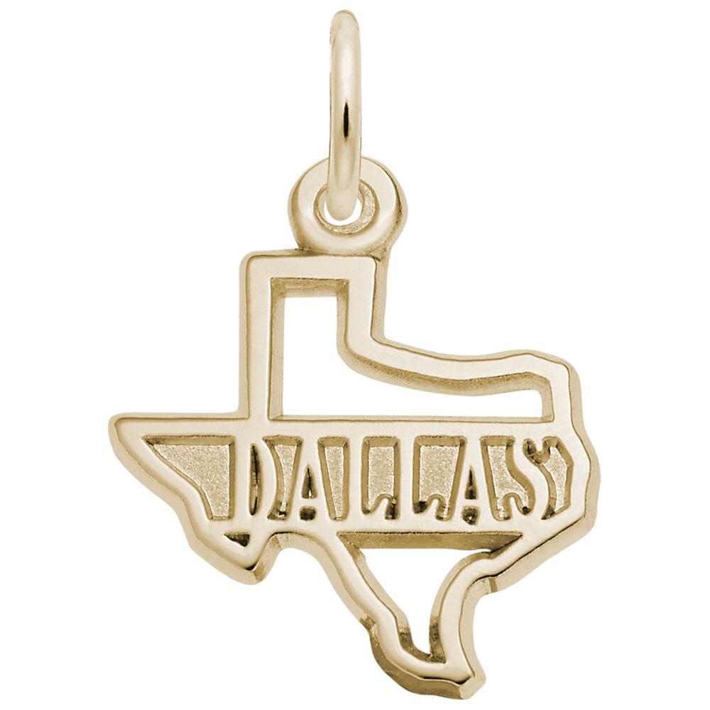 Dallas Texas Map Charm
