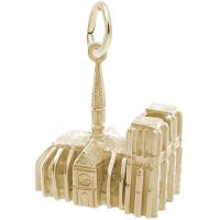gold notre dame charm side view