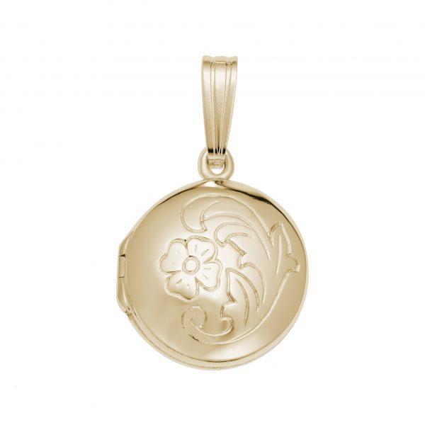 Circle Locket Gold