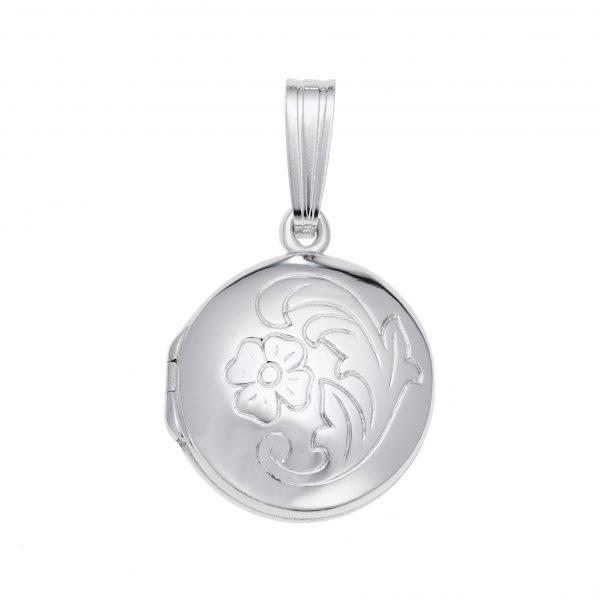 Circle Locket Silver