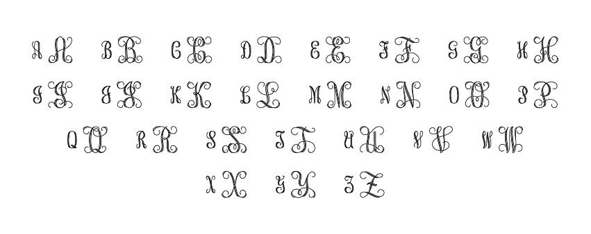 Engraving Mongram Script